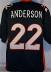 C.J. Anderson Denver Broncos Custom Alternate Jersey Mens XL