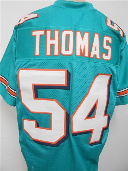 info for b9358 5785d Item Detail - Zach Thomas Miami Dolphins Custom Home Jersey ...