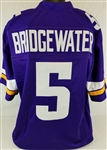Teddy Bridgewater Minnesota Vikings Custom Home Jersey Mens XL