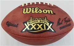 Super Bowl 39 XXXIX Official Wilson NFL On Field Game Football New England Patriots vs Philadelphia Eagles
