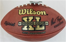 Super Bowl 40 XL Official Wilson NFL On Field Game Football Pittsburgh Steelers vs Seattle Seahawks