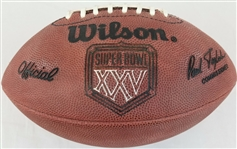 Super Bowl 25 XXV Official Wilson NFL On Field Game Football New York Giants vs Buffalo Bills