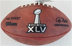 Super Bowl 45 XLV Official Wilson NFL On Field Game Football Pittsburgh Steelers vs Green Bay Packers