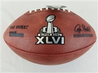 Super Bowl 46 XLVI Official Wilson NFL On Field Game Football New York Giants vs New England Patriots