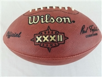 Super Bowl 32 XXXII Official Wilson NFL On Field Game Football Denver Broncos v Green Bay Packers