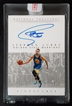 Stephen Curry 2014-15 Panini National Treasures Signatures Auto 4/49 Golden State Warriors