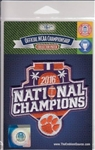 Clemson Tigers 2016 National Champions Official Licensed NCAA Collector Patch