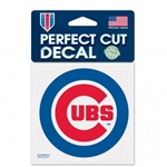 "Chicago Cubs Primary Logo Perfect Cut Color Decal 4""x4"""