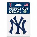 "New York Yankees NY Logo Perfect Cut Color Decal 4""x4"""