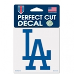 "Los Angeles Dodgers Perfect Cut Color Decal 4""x4"""