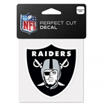 "Oakland Raiders Perfect Cut Color Decal 4""x4"""