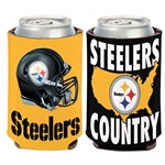 Pittsburgh Steelers/Steelers Country 12oz. Can Cooler