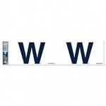 "Chicago Cubs ""W"" Flag Officially Licensed MLB 3""x12"" Bumper Strip Sticker"