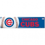 "Chicago Cubs Officially Licensed MLB 3""x12"" Bumper Strip Sticker"