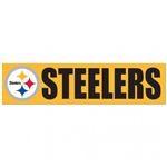 "Pittsburgh Steelers Officially Licensed NFL 3""x12"" Bumper Strip Sticker"