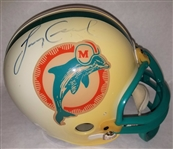 Larry Csonka Signed Full Size Replica Dolphins Helmet (discolored) JSA #S44140