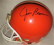 Jim Brown Signed Full Size Authentic Riddell VSR-2 Browns Helmet JSA COA #S39414