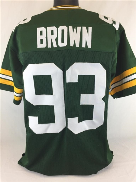 size 40 9ad09 d90ae Item Detail - Gilbert Brown Green Bay Packers Custom Home ...