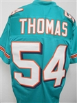 Zach Thomas Miami Dolphins Custom Home Jersey Mens Large w/ black #s