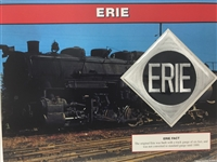 Erie Willabee & Ward Great American Railroads Emblem Patch Card