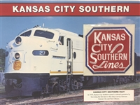 Kansas City Southern Willabee & Ward Great American Railroads Emblem Patch Card
