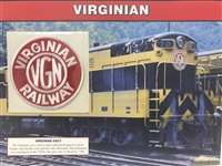 Virginian Willabee & Ward Great American Railroads Emblem Patch Card