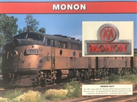 Monon Willabee & Ward Great American Railroads Emblem Patch Card