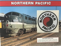 Northern Pacific Willabee & Ward Great American Railroads Emblem Patch Card