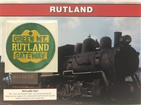 Rutland Willabee & Ward Great American Railroads Emblem Patch Card