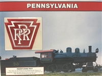 Pennsylvania Willabee & Ward Great American Railroads Emblem Patch Card