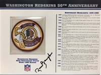 Willabee & Ward Washington Redskins 50th Anniversary 1986 Season Team Patch Card
