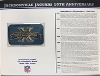 Willabee & Ward Jacksonville Jaguars 10th Anniversary 04 Season Team Patch Card