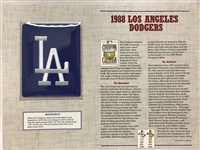 Willabee & Ward MLB Patch 1988 Los Angeles Dodgers Cooperstown Collection