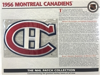 Willabee & Ward 1956 Montreal Canadiens Patch NHL Hockey Official Jersey Patch