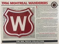 Willabee & Ward 1906 Montreal Wanderers Patch NHL Hockey Official Jersey Patch