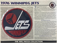 Willabee & Ward 1976 Winnipeg Jets Patch NHL Hockey Official Jersey Patch