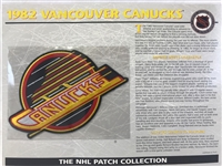 Willabee & Ward  1982 Vancouver Canucks Patch NHL Hockey Official Jersey Patch
