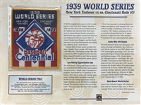Willabee & Ward New York Yankees World Series Patch 1939 Vs Reds  Baseball MLB