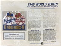 Willabee & Ward 1949 World Series Patch & Card - Ny Yankees Vs Brooklyn Dodgers