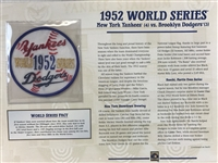 Willabee & Ward 1952 World Series Patch Card  New York Yankees / Brooklyn Dodgers