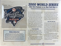 Willabee & Ward 2000 World Series Patch & Stat Sheet-  Ny Yankees Vs Ny Mets