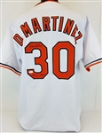 "Dennis Martinez ""83 WS Champs"" Baltimore Orioles Signed Jersey JSA Witness #WP263141"