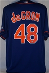 Jacob deGrom Signed New York Mets Majestic Jersey w/ MLB Authentication Hologram