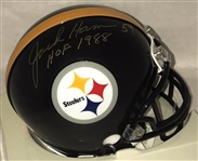 "Jack Ham ""HOF 1988"" Signed Pittsburgh Steelers Mini Helmet Auto JSA COA #R74327"