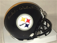 Mike Webster Signed Pittsburgh Steelers Mini Helmet Autographed JSA COA #D21185