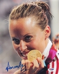 Amanda Beard Signed Usa Swimming 8x10 Photo Authentic Autograph PSA/DNA #AC11592