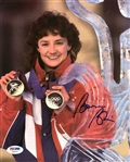 Bonnie Blair Signed Usa Speed Skating 8x10 Photo Authentic Autograph PSA #Z38227