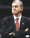 Jim Calhoun Signed Uconn Huskies 8x10 Photo Authentic Autograph JSA Hologram 3