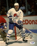 Michael Goulet Signed Nordiques 8x10 Photo Authentic Autograph PSA/DNA #X81109