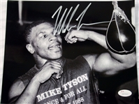 Mike Tyson Authentic Signed 8x10 Speed Bag Training Photo JSA Witness Autograph